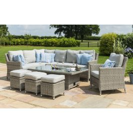 Maze Rattan Oxford Corner Dining Set With Chair