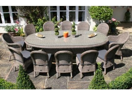 Bridgman 270cm Bali Oval Table with 2 Ohio Armchairs and 10 Ohio Dining Chairs