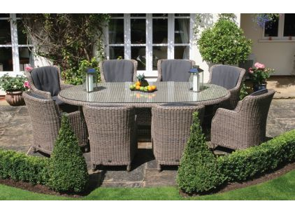 Bridgman 270cm Bali 8 Seater with 8 Brighton Dining Armchairs