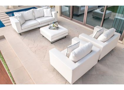 Maze Rattan Upholstered Ego Sofa Set