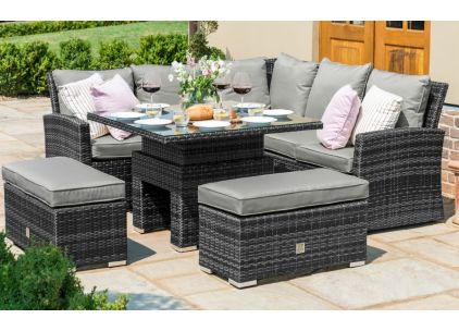 Maze Rattan Richmond Casual Corner Dining Set with Adjustable Table