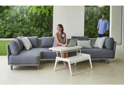 Moments Rope Small Corner Sofa by Cane-Line