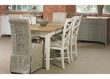 Burnsall Small Extending Dining Table with Four Chairs