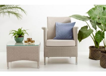 Vincent Sheppard Lloyd Loom Safi Garden Chair & Side Table/Footstool