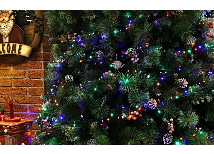 12m Connectable Christmas Lights, Indoor / Outdoor, 240 LED Diamond Cut