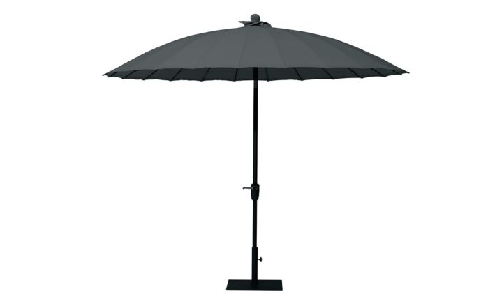 Four Seasons Outdoor Shanghai Parasol-Charcoal-2.5 Metre
