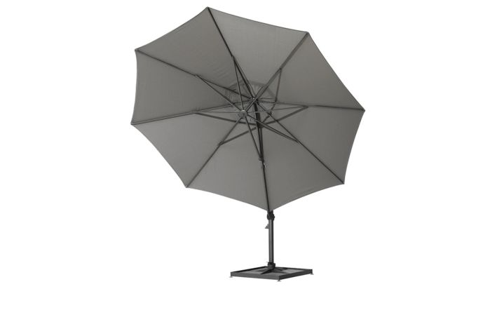 Four Seasons Outdoor Siesta Parasol-90kg Siesta Granite Grey base-Charcoal-3.5 Metre-Round