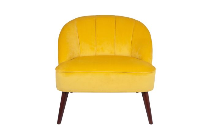 Pacific Lifestyle Ochre Velvet Chair