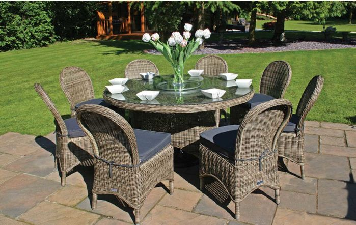 Bridgman Mayfair 150cm Round Dining Table with 8 Dining Chairs