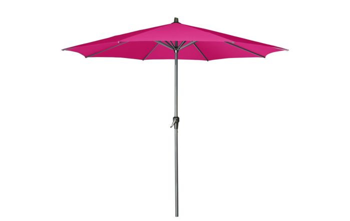 Pacific Lifestyle Riva Platinum Parasol - Fuchsia 3 Metre with 40kg Black Granite Wheeled Base