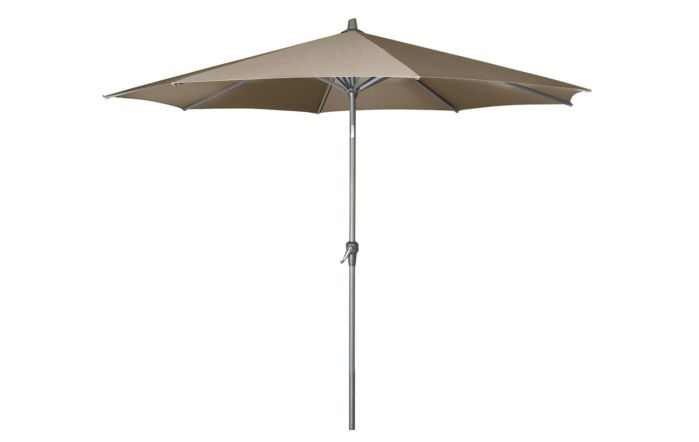 Pacific Lifestyle Riva Platinum Parasol - Taupe 3 Metre with 40kg Black Granite Wheeled Base