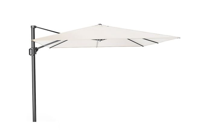 Pacific Lifestyle Challenger 3m Square Ivory Parasol with 90kg Granite Base