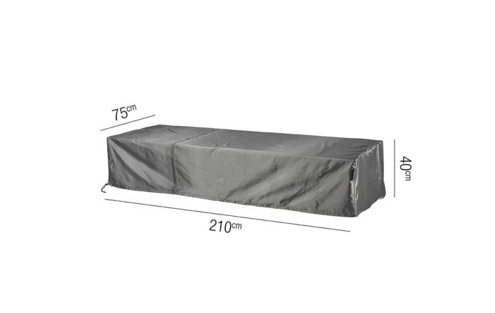 Loungebed AeroCover W210 x D75 x 40cm High