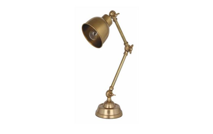 Pacific Lifestyle Antique Brass Task Table Lamp