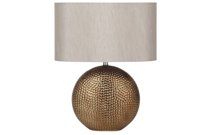 Pacific Lifestyle Mabel Bronze Dot Textured Ceramic Table Lamp