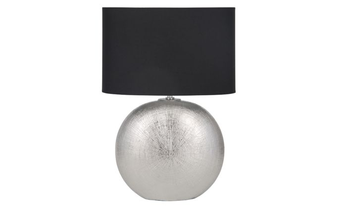Pacific Lifestyle Silver Textured Ceramic Table Lamp