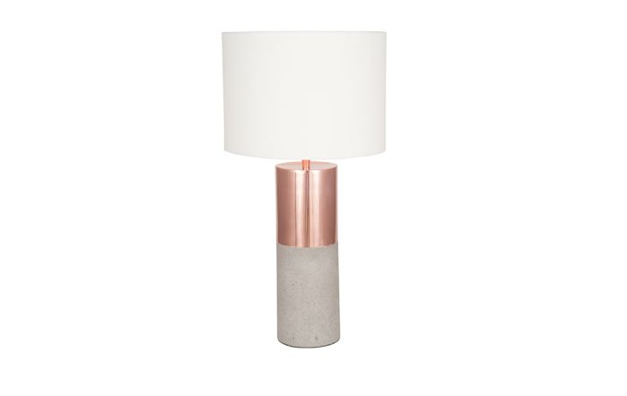 Pacific Lifestyle Copper Metal and Concrete Table Lamp