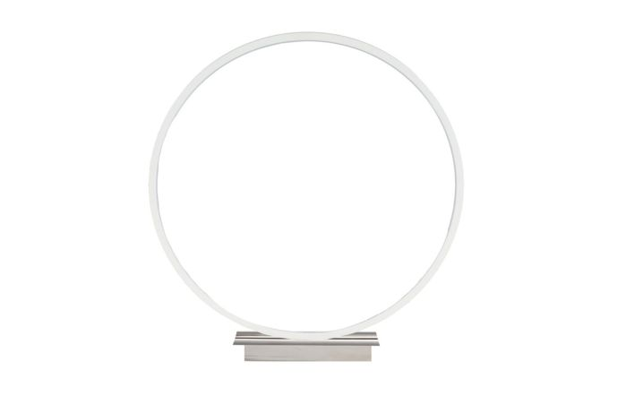 Pacific Lifestyle Small White LED Circle Table Lamp