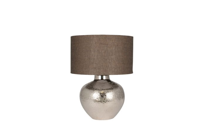 Pacific Lifestyle Nickel Metal Etch Pot Table Lamp