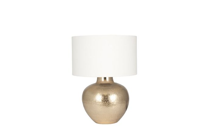 Pacific Lifestyle Gold Metal Etch Pot Table Lamp
