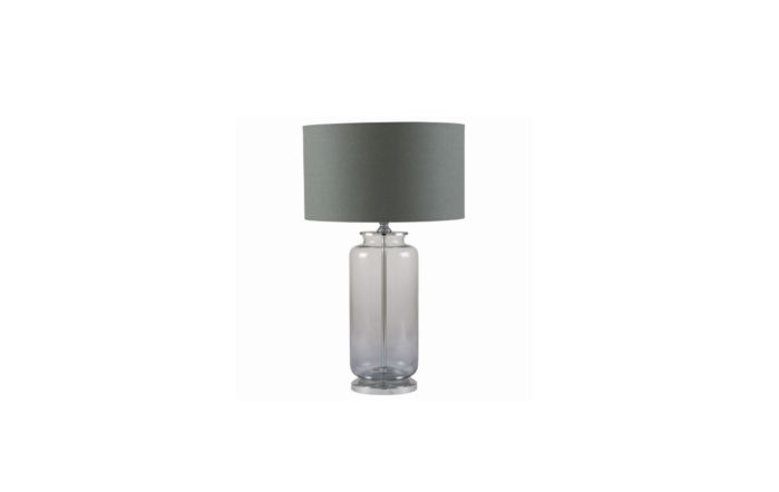 Pacific Lifestyle Grey Ombre Glass Table Lamp