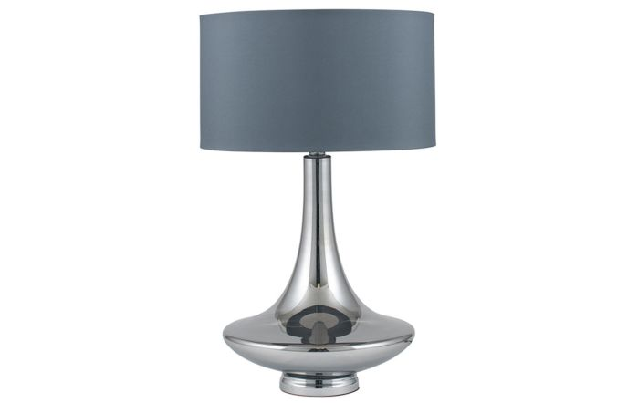 Pacific Lifestyle Grey Glass Table Lamp
