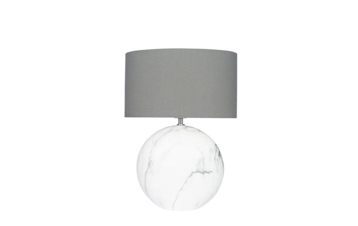 Pacific Lifestyle Large Marble Effect Ceramic Table Lamp