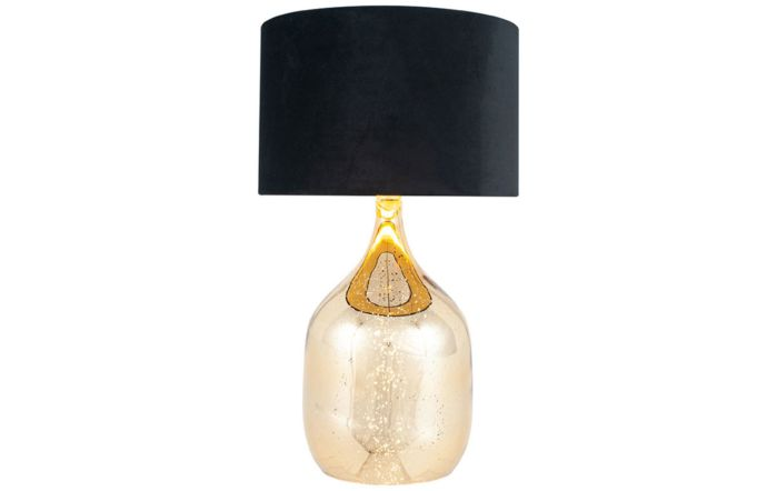 Pacific Lifestyle Champagne Gold Glass Dual Light Table lamp