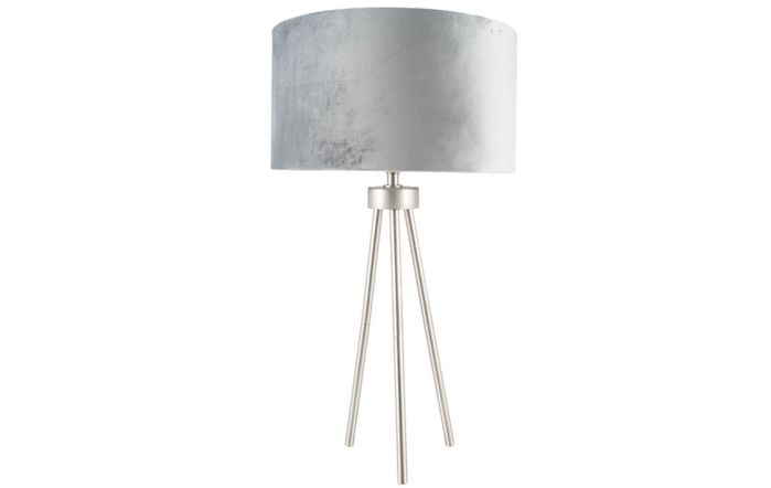 Pacific Lifestyle Brushed Silver Metal Tripod Table Lamp