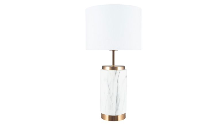 Pacific Lifestyle Carrara Marble Effect Ceramic Table Lamp