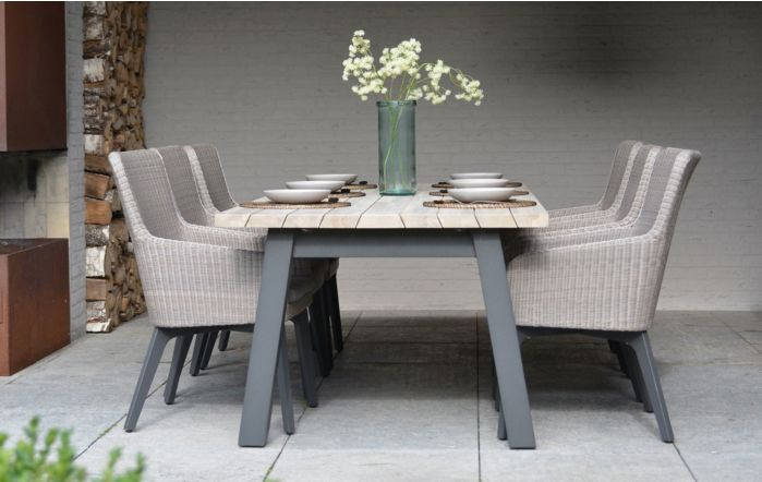 4 Seasons Outdoor 240 Derby Luxor Six Seater Dining set