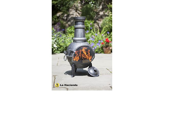 La Hacienda Arriba Medium Chimenea with Grill