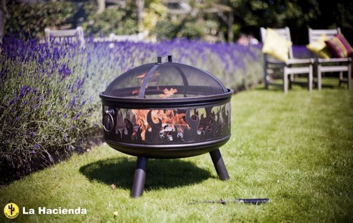 La Hacienda Wildfire Firebowl with Grill