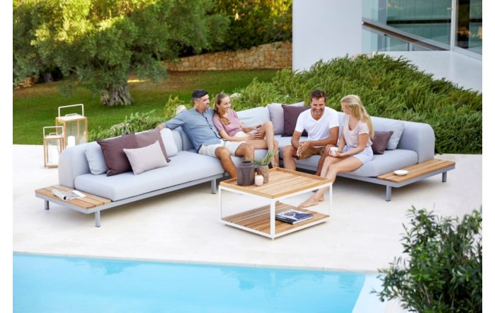 Cane-Line Space AirTouch and Teak Sofa Set