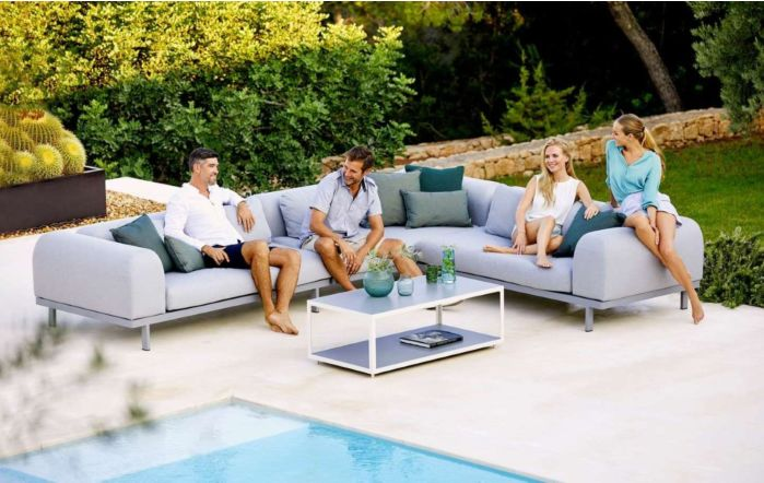 Cane-Line Space AirTouch Cushion 2-Seater Sofa Set