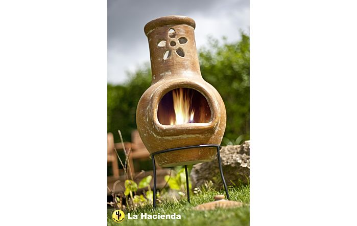 La Hacienda Flower Cut Out Chimenea