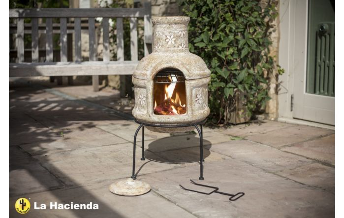 La Hacienda Star Flower with Grill Small Chimenea