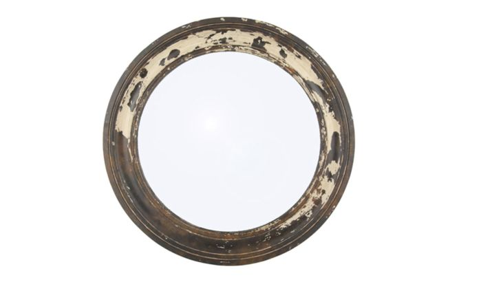 Pacific Lifestyle Antique Wood Round Wall Mirror