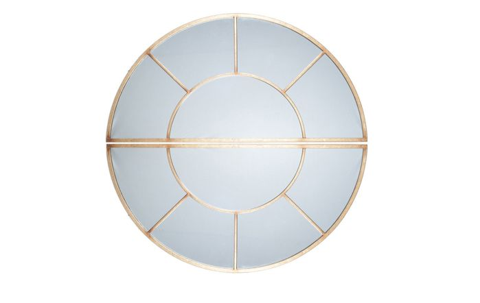 Pacific Lifestyle Antique Gold Metal 2 Oval Section Wall Mirror
