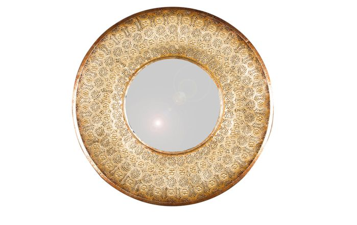 Pacific Lifestyle Gold Metal Round Wall Mirror