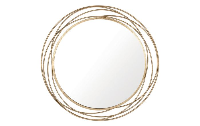 Pacific Lifestyle Antique Gold Metal Round Wall Mirror