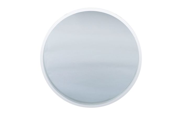 Pacific Lifestyle Glossy White Wood Round Wall Mirror