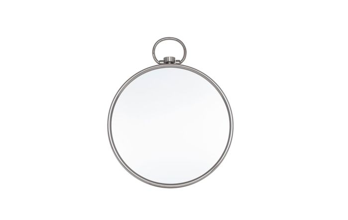 Pacific Lifestyle Shiny Nickel Round Wall Mirror
