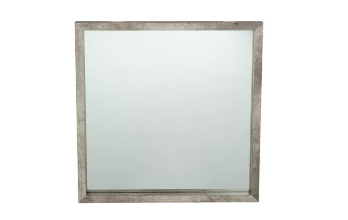Pacific Lifestyle Concrete Effect Wood Veneer Square Mirror