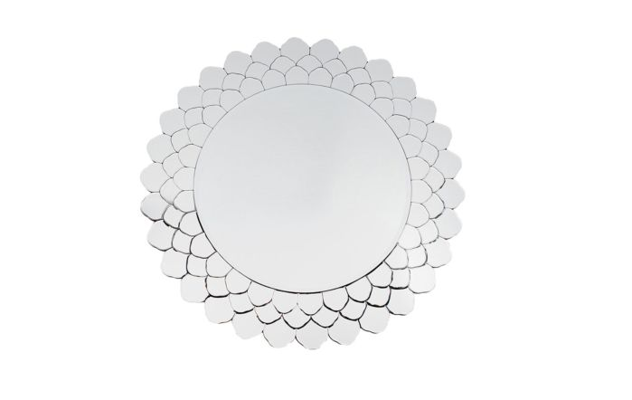 Pacific Lifestyle Clear Layered Glass Round Wall Mirror