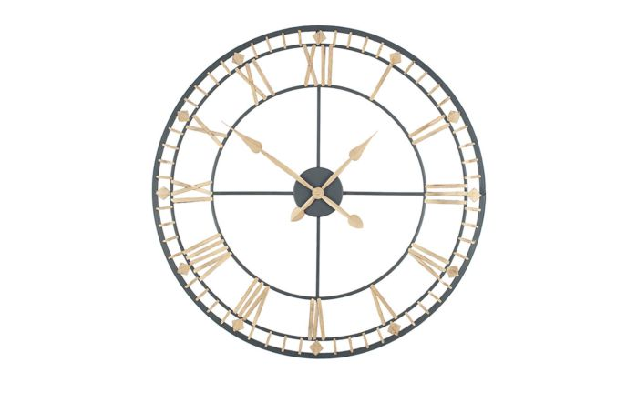 Pacific Lifestyle Antique Bronze & Gold Metal Round Wall Clock