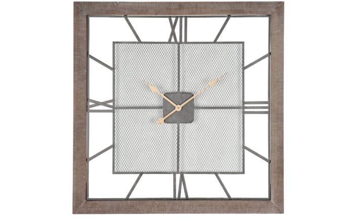 Pacific Lifestyle Natural Wood Square Wall Clock