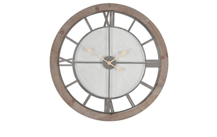 Pacific Lifestyle Natural Wood Round Wall Clock