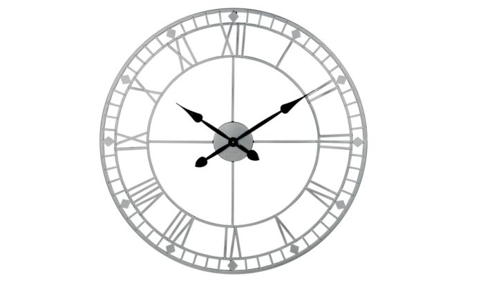 Pacific Lifestyle Antique Silver Metal Round Wall Clock
