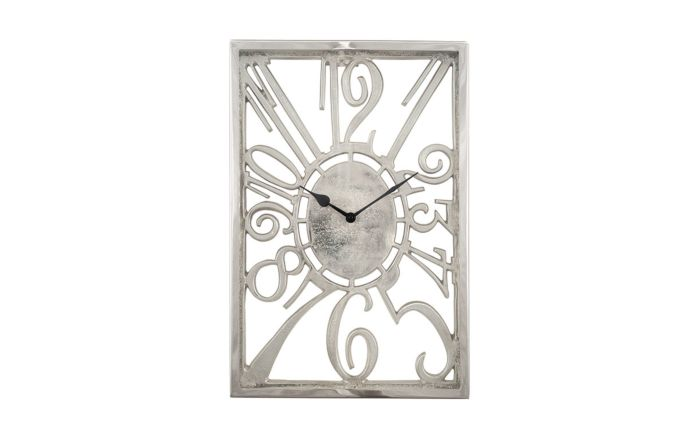 Pacific Lifestyle Shiny Nickel Oblong Wall Clock